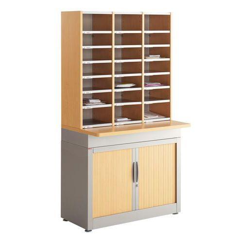 Module de tri du courrier - Sur armoire - 3 colonnes