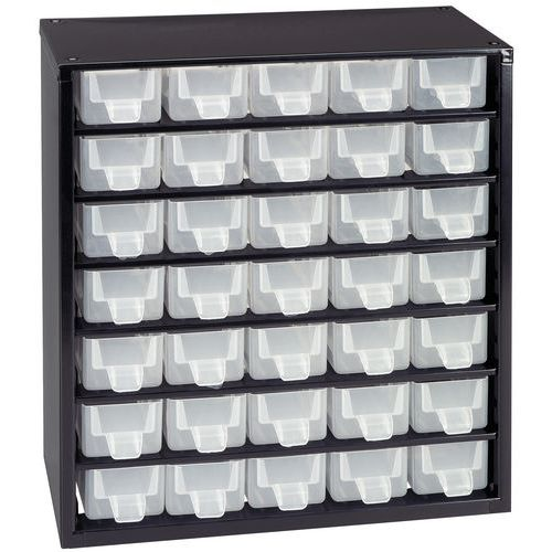 armoire tiroirs en m tal hauteur 33 cm. Black Bedroom Furniture Sets. Home Design Ideas