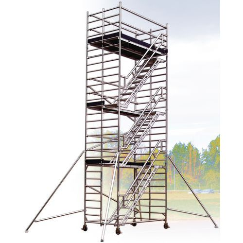Echafaudage Roulant Aluminium Starlium 600 Escalier Manutan Fr