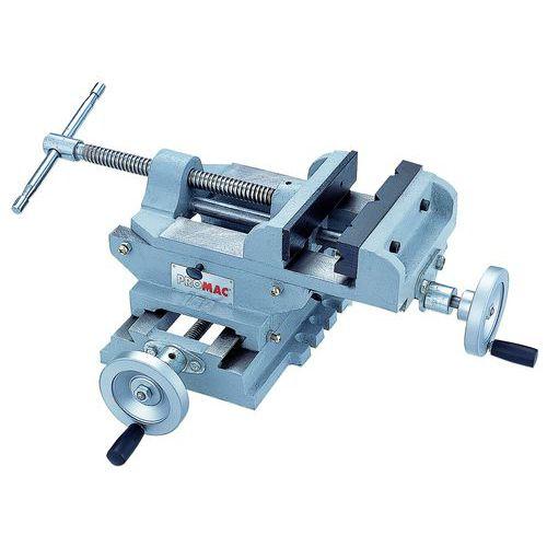 Étau de perceuse sur table croisée PROMAC 2167 - Mâchoire largeur 150 mm - Ouverture 130 mm