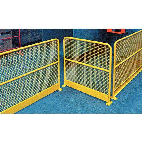Barri re de protection grillag e avec plinthe jaune ral 1023 for Barriere de protection