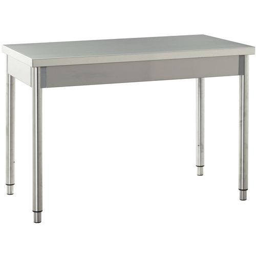 Table de travail en acier inoxydable - Table en acier inoxydable ...