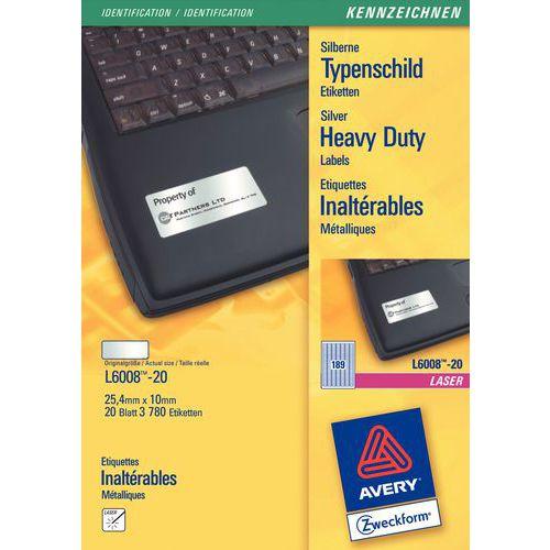 Étiquette polyester métallique ultra-résistante - Impression laser