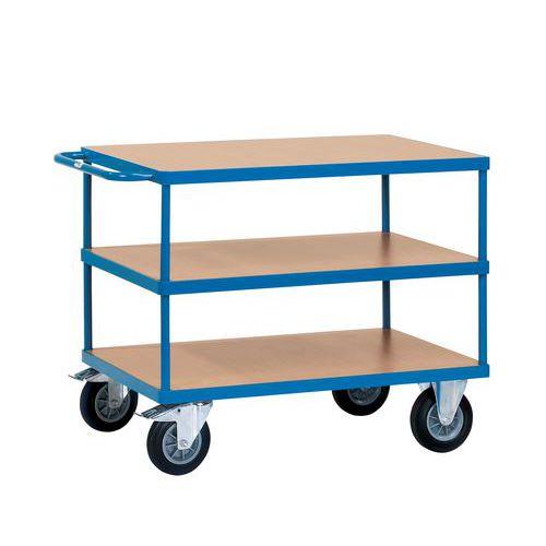 chariot plateaux bois 3 plateaux force 500 kg. Black Bedroom Furniture Sets. Home Design Ideas