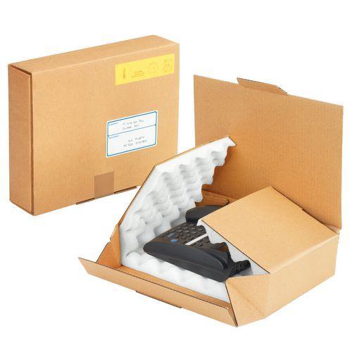 Boîte d'expédition carton - Intérieur mousse