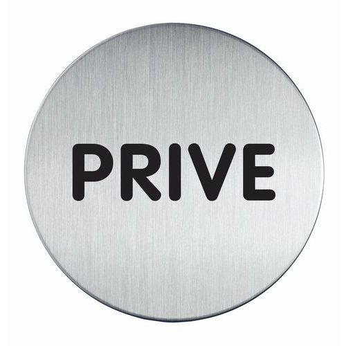 Pictogramme design rond 83 mmØ - Privé - Durable