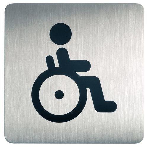 Pictogramme design carré toilette - Handicapé