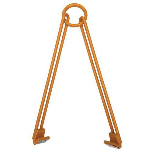 Pince pour fût vertical et horizontal à 2 bras libres - Force 450 kg