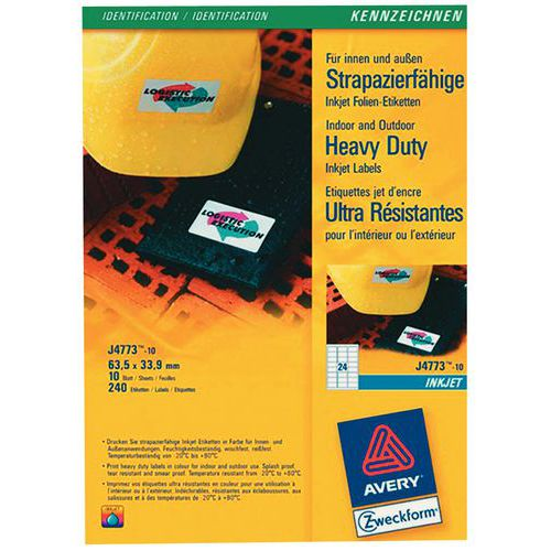 Étiquette polyester ultra-résistante - Impression laser / jet d'encre