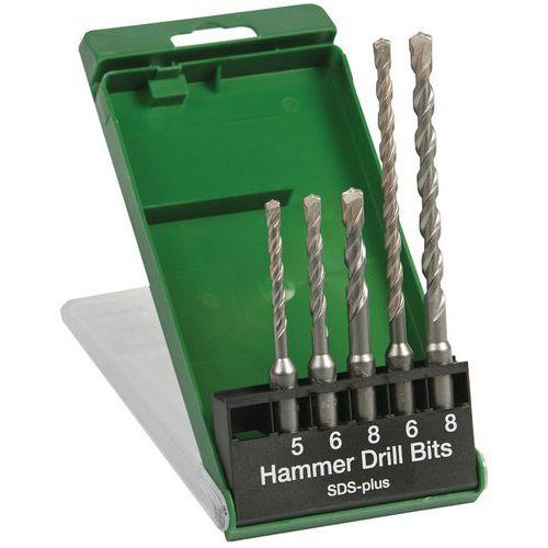 Pack 5 mèches SDS+ Ø5/6/8x110 Ø6/8x160mm 2T - Hikoki