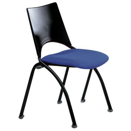 Chaise sit tissu structure noire for S asseoir sans chaise
