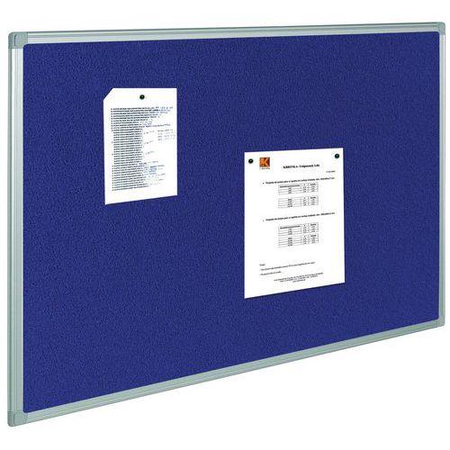 Panneau d'affichage textile - Bleu