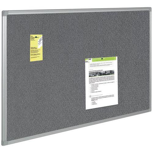 panneau d 39 affichage textile gris. Black Bedroom Furniture Sets. Home Design Ideas