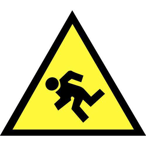 Panneau de danger - Danger de chute - Adhésif - Manutan.fr