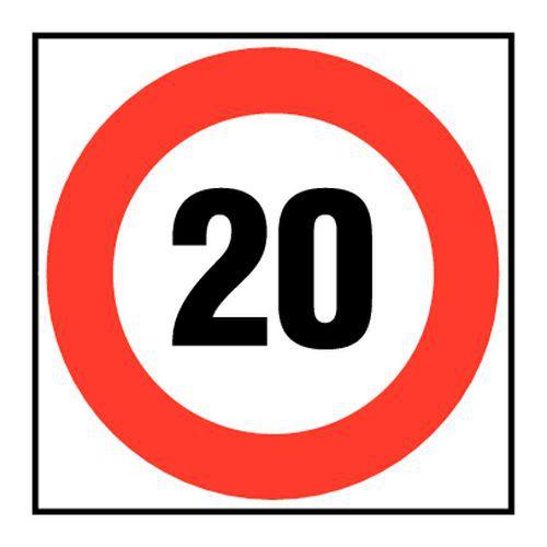 panneau d 39 interdiction vitesse limit e 20 km h. Black Bedroom Furniture Sets. Home Design Ideas