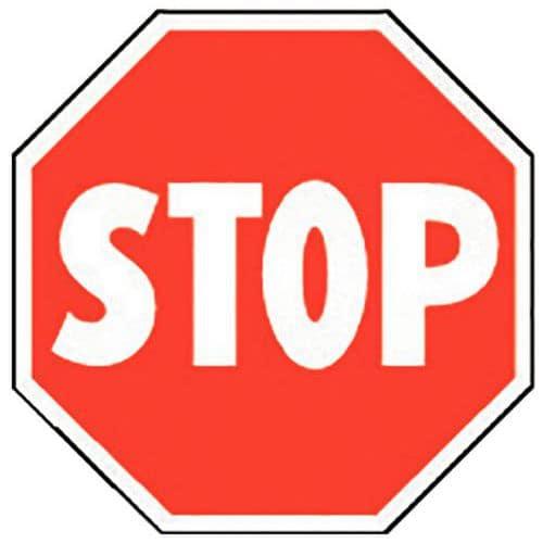 Panneau d 39 interdiction stop adh sif - Prix d un panneau stop ...