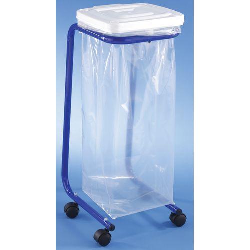 Support sac poubelle mobile avec couvercle