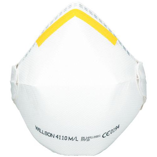 Demi-masque respiratoire pliable à usage unique