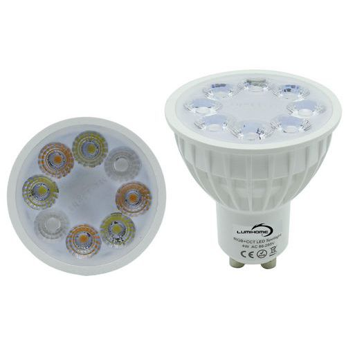 Ampoule connectée LED GU10 RGBW 4W _Lumihome