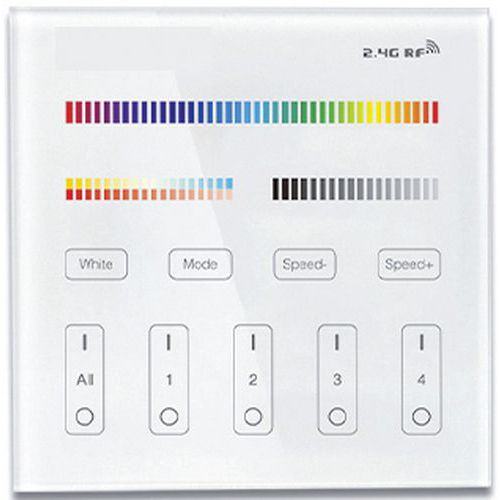 Télécommande murale RGBW-W 2,4 Ghz_Lumihome