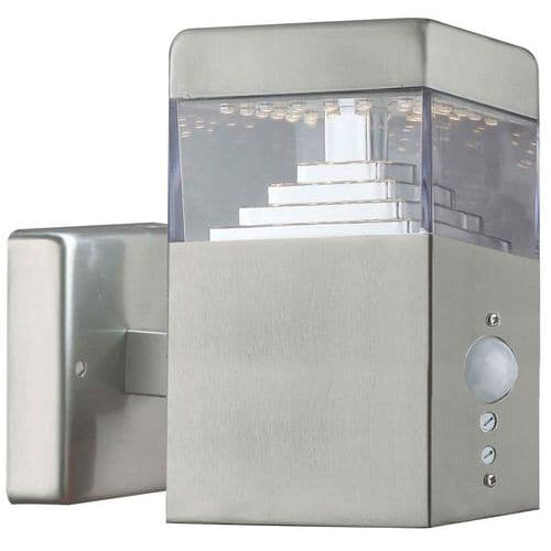 Applique extérieure murale Pyramide à détecteur 30 LED