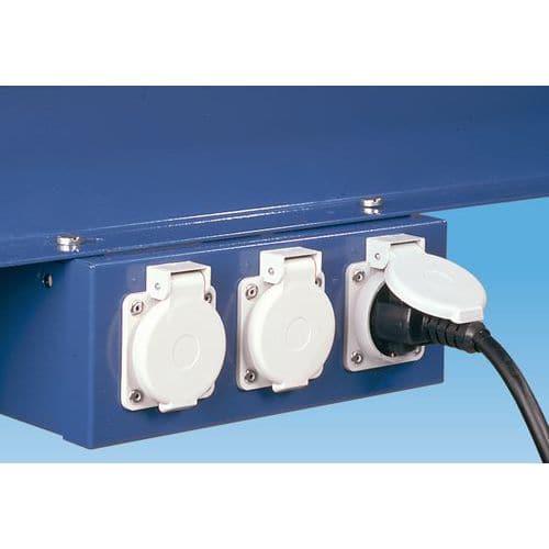 Boîtier électrique pour établi