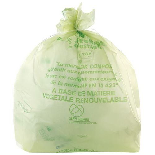 Sac biodégradable - 80 L à 240 L