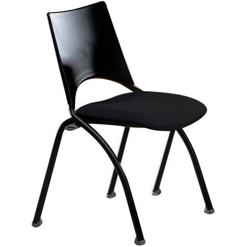Chaise sit tissu structure noire for Chaise noire tissu