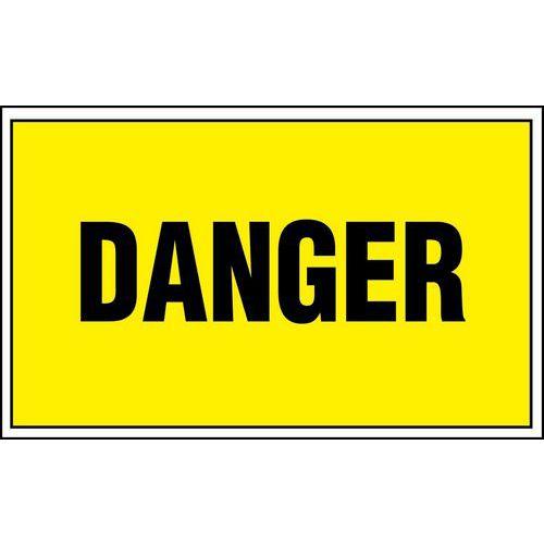 Panneau de danger - Danger - Adhésif