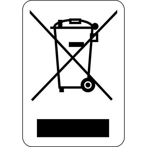 Panneau de signalisation pour tri sélectif en rouleau - Adhésif