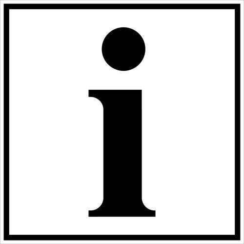 Pictogramme de signalisation noir et blanc - adhésif- Information