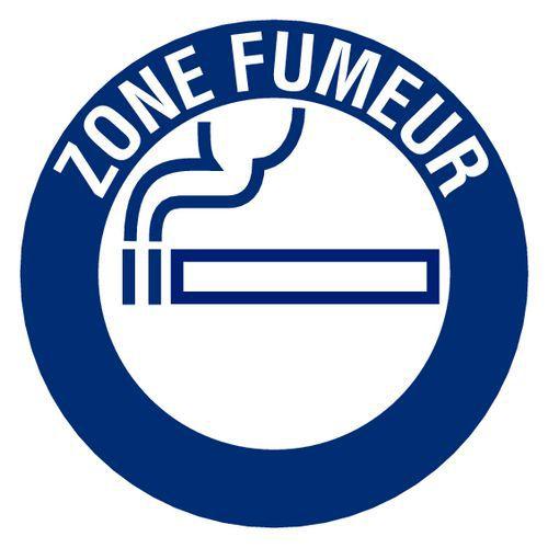 Panneau D Obligation Zone Fumeur Rigide