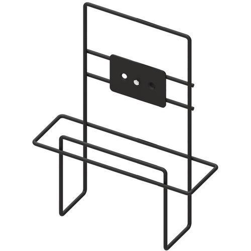 Support additionnel pour porte brochures A4 en acier noir - Manutan