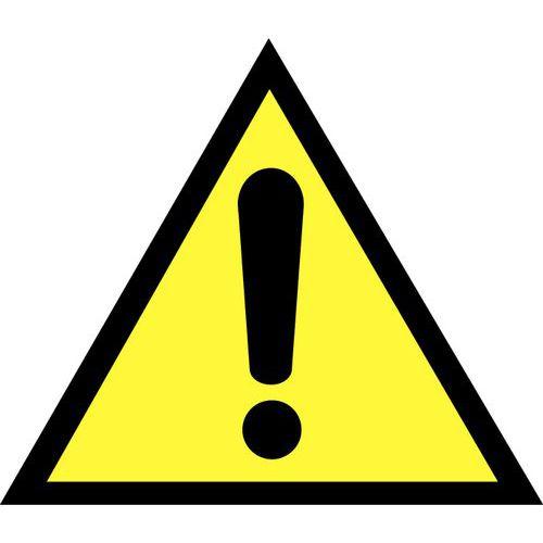 Panneau de danger - Danger général en planche