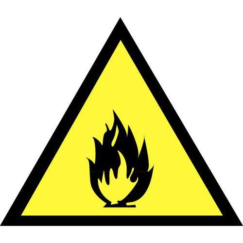 Panneau de danger - Danger matières inflammables - Adhésif