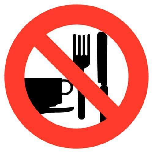 panneau d 39 interdiction interdit de manger et boire adh sif. Black Bedroom Furniture Sets. Home Design Ideas