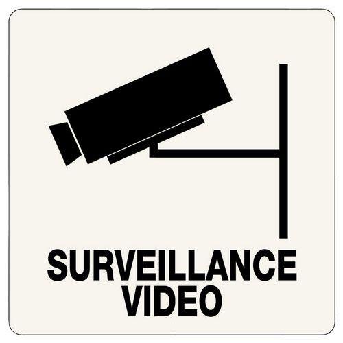 panneau de signalisation r glementaire surveillance vid o adh sif. Black Bedroom Furniture Sets. Home Design Ideas