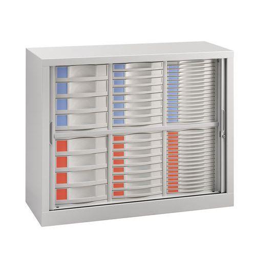 Armoire à rideaux - 56 tiroirs
