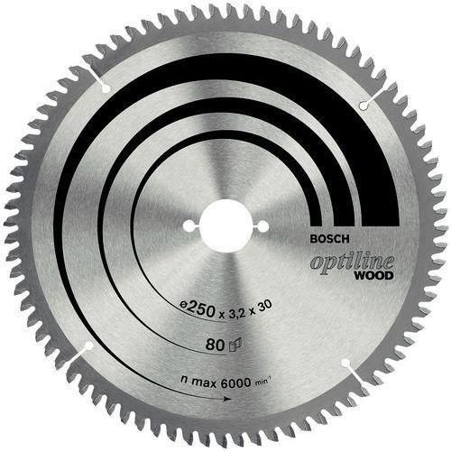 Lame de scie à onglet et radiale Optiline Wood - Ø 254 mm - Alésage Ø 30 mm