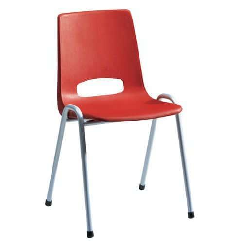 chaise coque plastique rouge. Black Bedroom Furniture Sets. Home Design Ideas