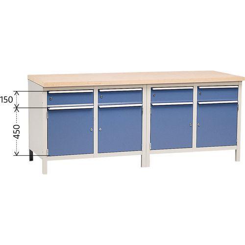Établi complet Modul 200 avec armoires et tiroirs