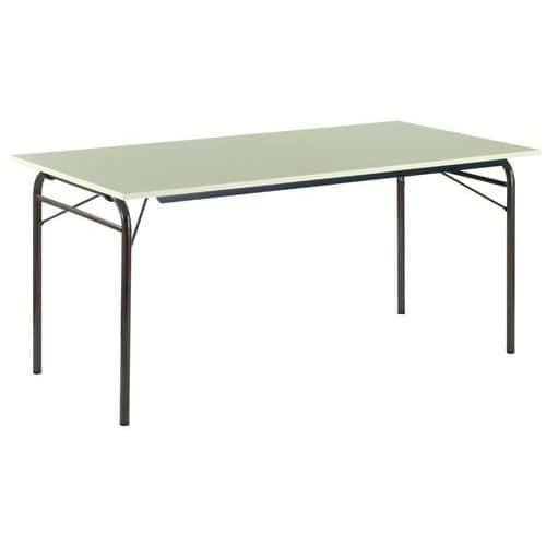 Table pliante rectangle pi tement tubulaire - Table pliante collectivite ...