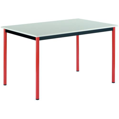 Table rectangulaire polyvalente - Plateau mélaminé - Longueur 120 cm