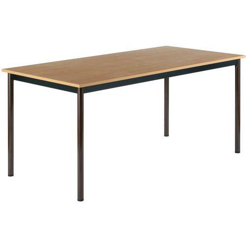 Table rectangulaire polyvalente - Plateau mélaminé - Longueur 160 cm