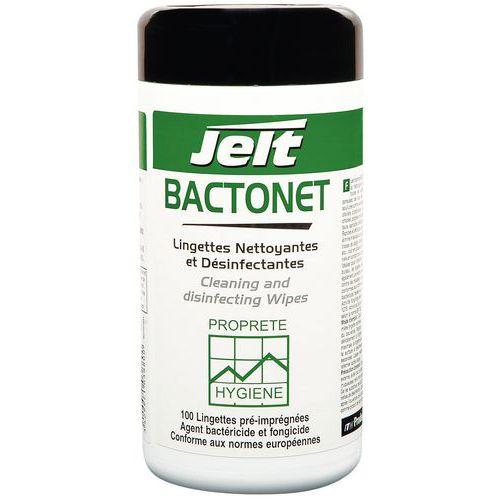 Lingette nettoyante et désinfectante en boite BACTONET®