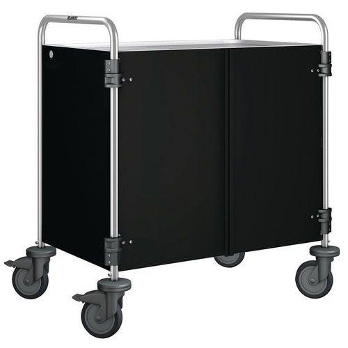 Chariot de service avec habillage - 3 plateaux - Blanco