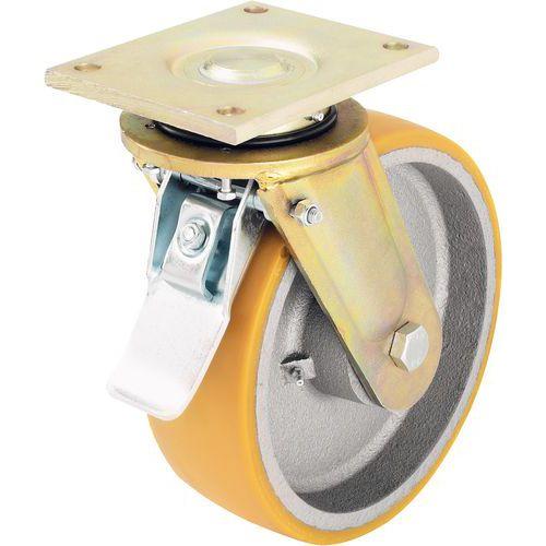 roulette pivotante avec frein platine force 550 3 300 kg. Black Bedroom Furniture Sets. Home Design Ideas