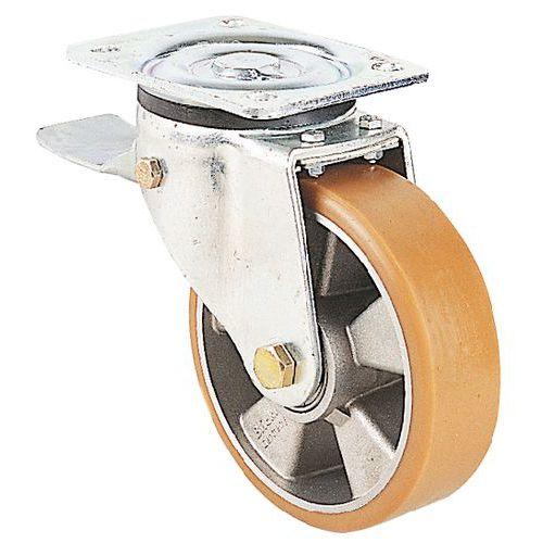 roulette pivotante platine et frein force 180 900 kg man. Black Bedroom Furniture Sets. Home Design Ideas