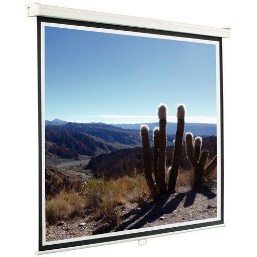 Cran de projection manuel mural ou plafond for Ecran de projection mural manuel