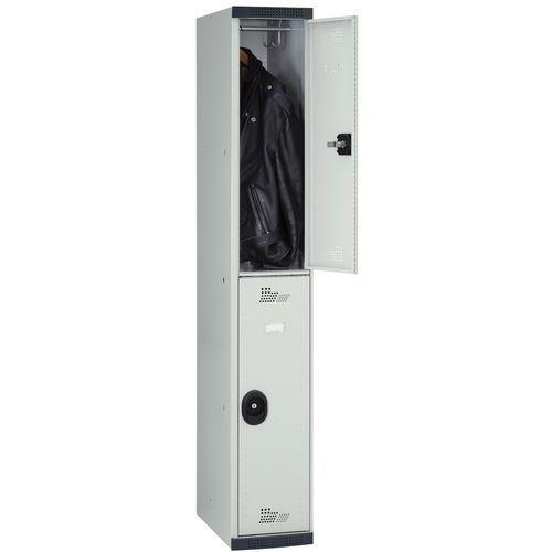 vestiaire 2 cases penderie seamline optimum 1 colonne largeur 300 mm sur socle. Black Bedroom Furniture Sets. Home Design Ideas